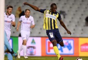 Usain Bolt anotó doblete en la liga de fútbol de Australia