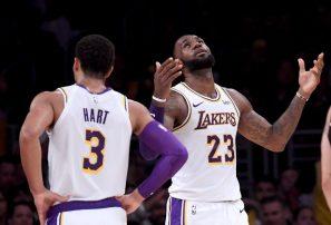 LeBron y los Lakers apabullaron a los Suns en la NBA