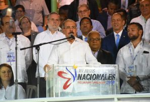 Presidente Medina inaugura los XIV Juegos Hermanas Mirabal
