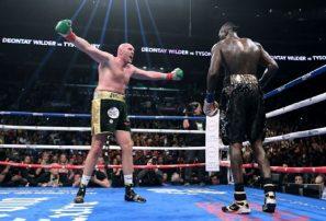 Deontay Wilder y Tyson Fury empatan en duelo por el titulo mundial de los pesados